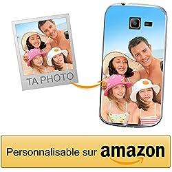 Coverpersonalizzate.it Coque Personnalisable pour Samsung Galaxy Trend Lite avec ta Photo, Image ou Inscription. Étui Souple en TPU Gel Transparent. Impression de qualité supérieure