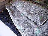 Qjutie Lottashaus no4E 3X Fleece Alpenfleece Sweat Stoffpaket 50x70cm Mint Glitzer Einhorn Pferd Krone Sterne Kuschelfleece Kinder Kleidung Stoffe