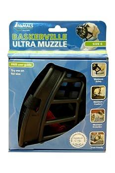 Baskerville Muselière pour Chien Ultra Noir Taille 6 (17 X 16,5 X 12,7 cms)