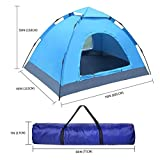 Automatic Tent, Wonbor Camping Beach Dome Waterproof Folding Tent Portable Outdoor Cabana Anti UV and Sun Shelter with Carrying Bag for 2 or 3 Person