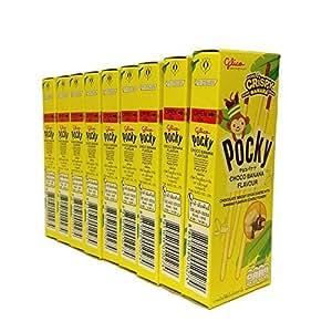 Glico Pocky Choco Banana 25g.(0.88oz)Packs of 9 by Glico