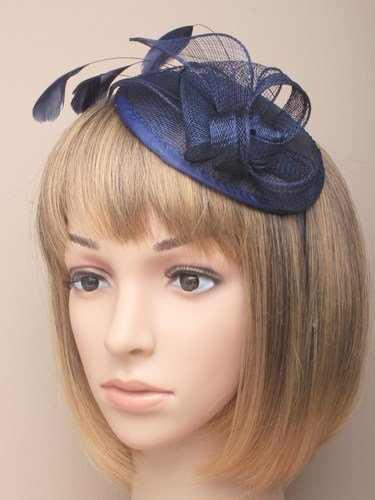 353b286a760 Allsorts® Large Navy Blue Hat Aliceband Fascinator Weddings Ladies Day Race  Royal Ascot