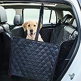 Dr.Memory Cubierta del asiento del perro, asiento trasero grande Cubierta del asiento del animal doméstico Hamaca para los coches, los carros, SUVs con el respaldo antideslizante, aletas laterales, impermeable, suave