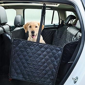 Housse de siège Dr.Memory pour chien, siège arrière grand siège pour siège de repos Hamac pour voitures, camions, VUS avec protection antidérapante, rabats latéraux, imperméable à l'eau, doux