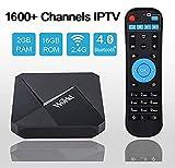 IPTV Receiver Box, IPTV APP prenant en Charge Plus de 1600 chaînes mondiales du Royaume-Uni Allemagne France Italie Espagne Portugal Asiatique Arabe Brésil