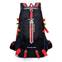 sealands 40L resistente al agua día Mochila Senderismo camping Backpack Touring Viaje Mochila Casual con protector de lluvia para exterior Escalada (Negro)
