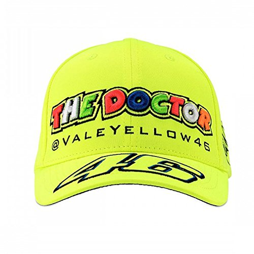 Valentino Rossi VR46 Moto GP The Doctor Gelb Baseball Deckel Offiziell 2018 (Baumwolle Cap 100%)