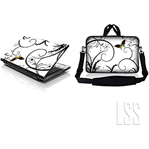 LSS & Macbook PRO Laptop Sleeve Bag Carrying Case w/Hidden Handle & Matching Vinilo Adhesivo Para 16