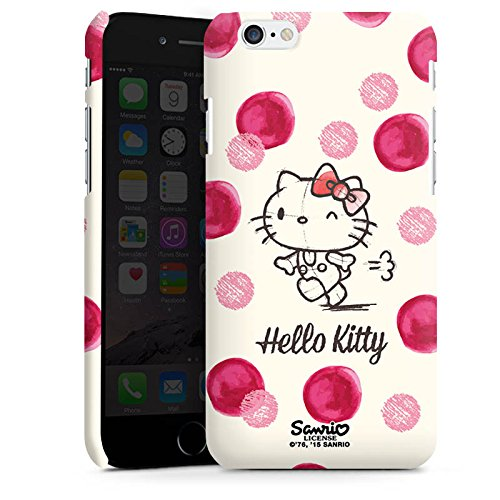 Apple iPhone X Silikon Hülle Case Schutzhülle Hello Kitty Fanartikel Merchandise Pünktchen Premium Case matt