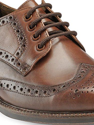 44ba323cb6137c Buy Teakwood Men s Real Genuine Leather Formal Derby Dress Shoes on Amazon
