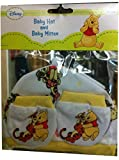 Disney Winnie-The-Pooh Baby Hat and Baby Mittens
