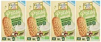 Grillon d'or Biscuits Petit Déj' Sarrasin/Noisettes 150 g - Lot de 4