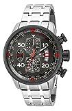 Invicta Aviator 17204Gents 48mm grigio con cinturino e cassa in acciaio cronografo