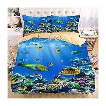 real underwater world. Interesting World Underwater World 3D Bedding Set Print Duvet Cover Set Beautiful Pattern Real  Effect Lifelike Bedclothes High Inside World