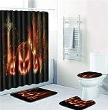 EMG Polyester Faser Badezimmer Vorhang Badezimmer Wolldecken Toiletten Sitz Kissen 16 Stück Satz Kreative Stadt Nachtszene Serie Ⅲ