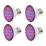 [4 Stück] Pflanzenlampe XJLED 5W LED Wachstumslampe SMD 2835 106LEDs Rotes...