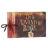 Tourwin Our Adventure Book DIY Scrapbook Pixar Up Fotoalbum Uni Papiere hellbraun Seiten für Jahrestag Hochzeit Gästebuch Urlaub Erinnerungen