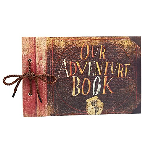 Tourwin Our Adventure Book DIY Scrapbook Pixar Up Fotoalbum Uni Papiere hellbraun Seiten für...