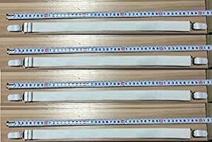 LONG adjustable SHEET STRAPS - bed garters, fasteners grippers METAL CLIPS - Strong - easy to use