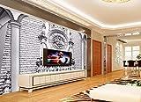 Yosot Tapete 3D Wandbild Dekor Foto Hintergrund Fotografie Stereo Klassische Architektonische Skulptur Luxus Wohnzimmer Wandmalerei Wandbild-200cmx140cm