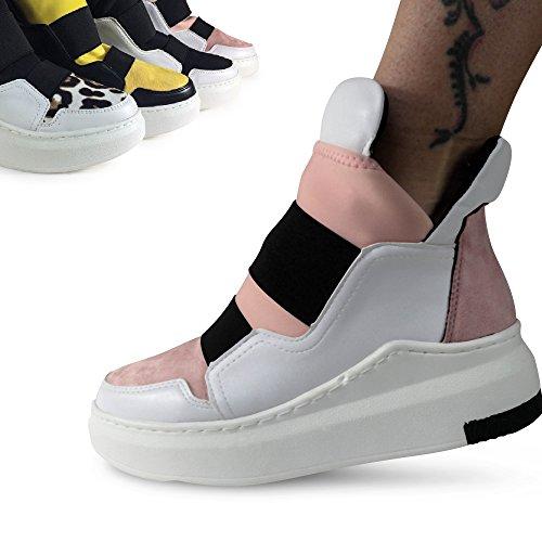 Damen Sneakers Keilabsatz Wedge High Top Turnschuhe Sportschuhe ST321 Gelb