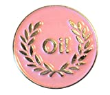 Pink Oi. Laurel Girl Mod weiblich Scooter Rider Metall Emaille Badge