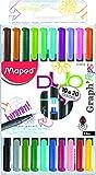 Maped M749251 - Fineliner Graph Peps Duo, 10 Stifte, 20 Farben