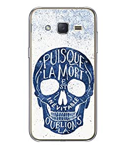 Snapdilla Designer Back Case Cover for Samsung Galaxy J3 (6) 2016 :: Samsung Galaxy J3 2016 Duos :: Samsung Galaxy J3 2016 J320F J320A J320P J3109 J320M J320Y (Illustration Blue Face Alien Robot Backcover Horror)