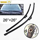 RAISSER® Misima Windscreen Wiper Blades for Land Rover for Range Rover L322 Vogue HSE 2002-2012 Front Window Wiper 2003 2004 2005 2006