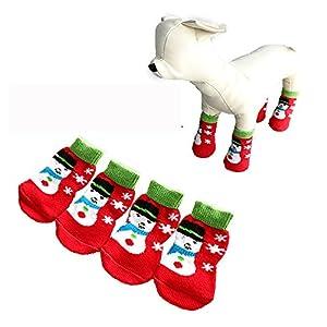 Animaux de Noël de chien Chaussettes Cartoon anti-dérapant mignon chaussettes chaudes