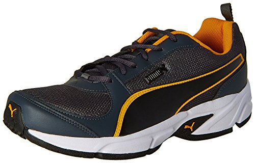 Puma Men's Agility IDP Dark Shadow, Puma Black and Zinnia Running Shoes - 8 UK/India (42 EU)