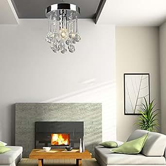 Wallzkey ® 2 Pompons-Cristal-Lampe de Plafond-Lustre moderne en cristal pour décorer votre salle à manger, etc.