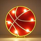 Basketball führte Marquee Licht dekorative Motiv Baloncesto Nacht Lampe Batterie & USB betrieben Tischleuchte (Basketball)
