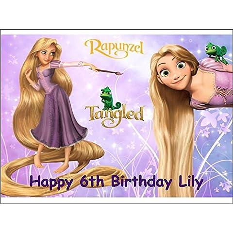 Rapunzel Enredados–Decoración para Tarta para glaseado (A4)