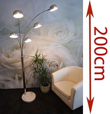 Five-Fingers-Lampe Stehlampe Stehleuchte ~ 220cm, chrom von Mendler - Lampenhans.de