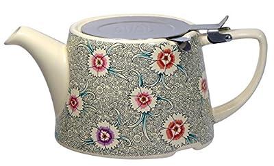 London Pottery Company Kaffe Fassett Oval-filter en céramique Infuseur Théière, 800ml (82,8cl)–Œillet