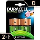 Duracell Batterie Recharge Ultra D, Confezione da 2