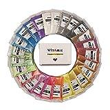 VITARIE Premium mica pigmenti in polvere - effetto metallico set ultimo enorme polvere del pigmento per la resina epossidica (12 colori 10g / 0,35 once) - forniture slime Rosso