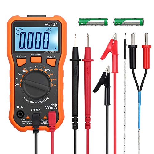 Digital Multimeter 6000 Counts TRMS Voltmeter Amperemeter Ohmmeter für NCV DC AC Voltage Strom Widerstände Temperatur Kapazität Diode Frequenz Tastverhältnis Test