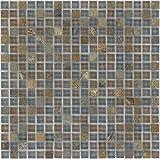 Kombimosaik Fliesen braun grau Wand Boden Dusche WC Küche | 10 Matten | Art: es-66230_f