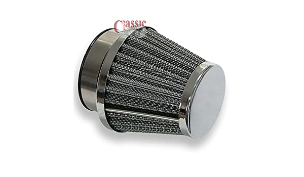 48mm Universal K/&N Style Air Filter Ideal For Classic Motorcycle