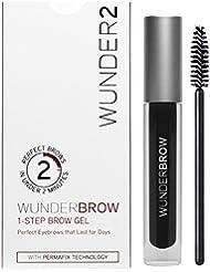 WUNDER2 WunderBrow Eye Brow Gel - perfekte Augenbrauen in weniger als 2 Minuten, Farbe: Jet Black