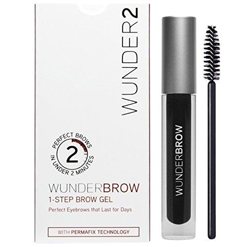 WUNDER2 WUNDERBROW - Gel à Sourcils Semi-Permanent, Waterproof, Sans Transfert, Longue Tenue, Teinte Jet Black