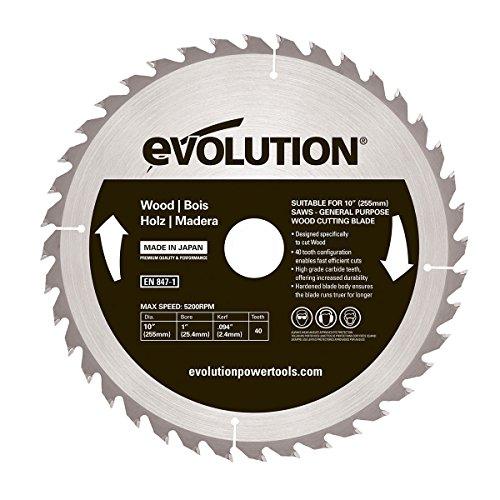 Evolution Power Tools–Bj rageblade255wood Evolution 255mm Holz Hartmetallbestückt Klinge, 0V, Multi, 255mm