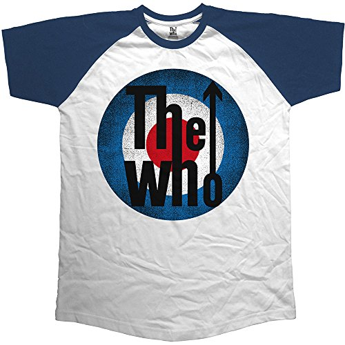 The Who Vintage Target, Camiseta para Hombre, Azul Blue, White, Large