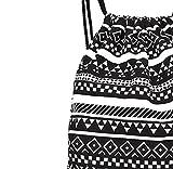 Covermason Unisex Retro Geometrische Rucksäcke Drucken Taschen Kordelzug Rucksack Drawstring Backpack Sporttasche -