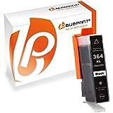 Bubprint Cartouche d'imprimante compatible pour HP 364 XL 364XL Noir Avec puce et indicateur de niveau
