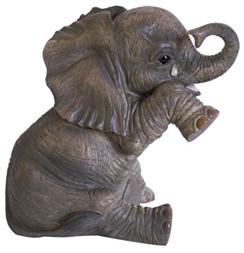 Crying Baby African Elephant 'Missing You' Statue From Leonardo 'Out Of Africa' Collection - Realistic 15cm High Figurine With Teardrop On Cheek by The Leonardo Collection