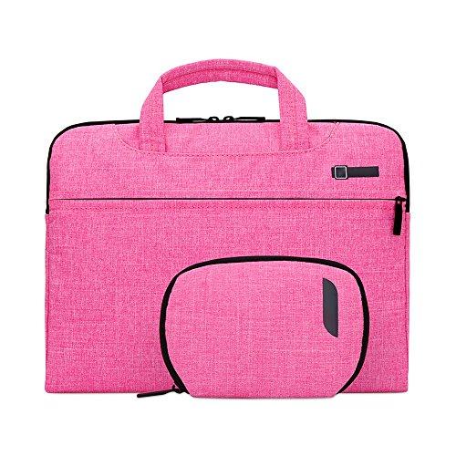 Jia HU 1großes Fassungsvermögen Laptop Aktentasche Handtasche Messenger Tasche Portfolio Umhängetaschen Travel College rosarot