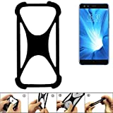 K-S-Trade Handyhülle für Nubia Z17 Mini S Schutz Hülle Silikon Bumper Cover Case Silikoncase TPU Softcase Schutzhülle Smartphone Stoßschutz, schwarz (1x)